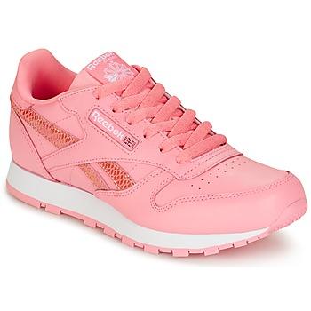 Čevlji  Deklice Nizke superge Reebok Classic CLASSIC LEATHER SPRING Rožnata
