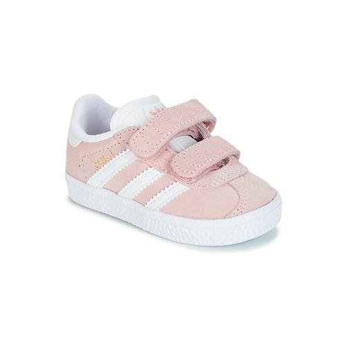 Čevlji  Deklice Nizke superge adidas Originals GAZELLE CF I Rožnata