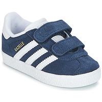 Čevlji  Dečki Nizke superge adidas Originals GAZELLE CF I Modra