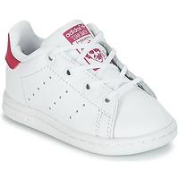 Čevlji  Deklice Nizke superge adidas Originals STAN SMITH I Bela / Rožnata