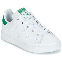 Čevlji  Otroci Nizke superge adidas Originals STAN SMITH C Bela / Zelena