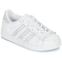Čevlji  Deklice Nizke superge adidas Originals STAN SMITH C Bela / Srebrna