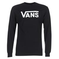 Oblačila Moški Majice z dolgimi rokavi Vans VANS CLASSIC Črna