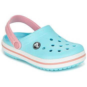 Čevlji  Otroci Cokli Crocs Crocband Clog Kids Modra / Rožnata