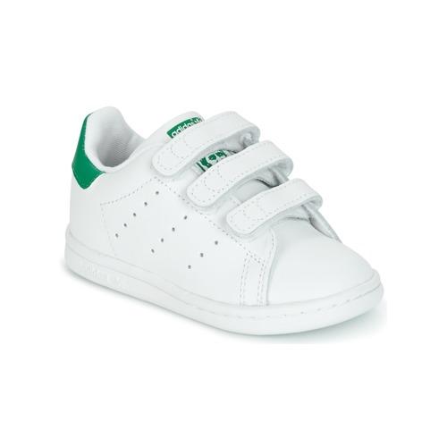 35d0d323d43 Čevlji Otroci Nizke superge adidas Originals STAN SMITH CF I Bela   Zelena