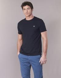 Oblačila Moški Majice s kratkimi rokavi Fred Perry RINGER T-SHIRT Modra