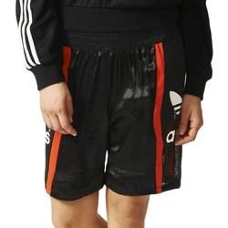 Oblačila Ženske Kratke hlače & Bermuda adidas Originals Basketball Baggy Črna,Rdeča