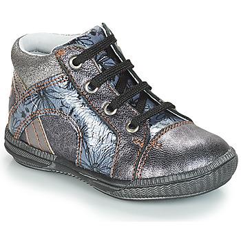 Čevlji  Deklice Visoke superge GBB ROSETTA Srebrna / Modra