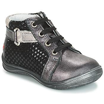 Čevlji  Deklice Visoke superge GBB RICHARDINE Črna / Siva