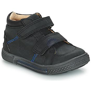 Čevlji  Dečki Visoke superge GBB ROBERT Črna