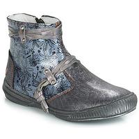 Čevlji  Deklice Polškornji GBB REVA Siva / Modra