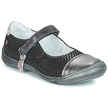 Čevlji  Deklice Balerinke GBB RIKA Črna / Srebrna