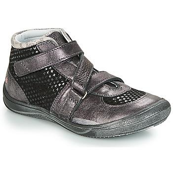 Čevlji  Deklice Visoke superge GBB RIQUETTE Črna / Srebrna