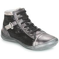 Čevlji  Deklice Visoke superge GBB ROMIE Siva / Črna