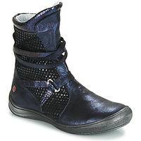 Čevlji  Deklice Mestni škornji    GBB ROSANA Modra / Črna