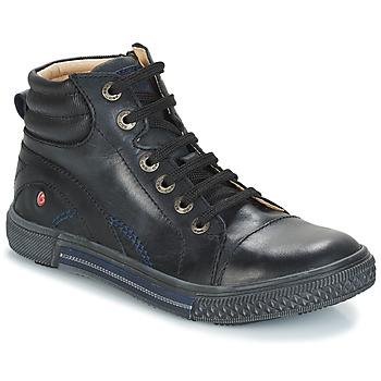 Čevlji  Dečki Visoke superge GBB RALPH Črna