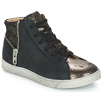 Čevlji  Deklice Visoke superge GBB CARLA Črna / Bronze