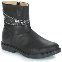Čevlji  Deklice Mestni škornji    GBB MAFALDA Črna