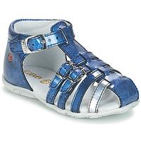 Čevlji  Deklice Sandali & Odprti čevlji GBB SAMIRA Vvn / Modra-print / Dpf