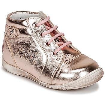 Čevlji  Deklice Visoke superge GBB SIDONIE Rožnata / Zlata