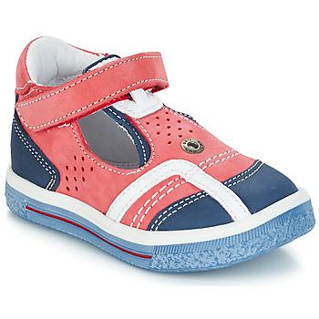 Čevlji  Deklice Balerinke GBB SALVADORE Rdeča / Modra