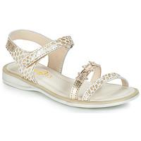 Čevlji  Deklice Sandali & Odprti čevlji GBB SWAN Bela / Pozlačena
