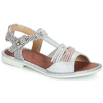 Čevlji  Deklice Sandali & Odprti čevlji GBB MARIA Srebrna / Bela