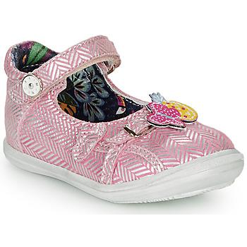 Čevlji  Deklice Balerinke Catimini SITELLE Vte /  rožnata-srebrna / Dpf / 2851