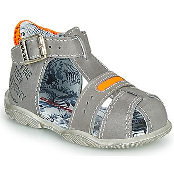 Čevlji  Dečki Sandali & Odprti čevlji Catimini SPHINX Nus / Sivo-oranžna       / Dpf / Filou