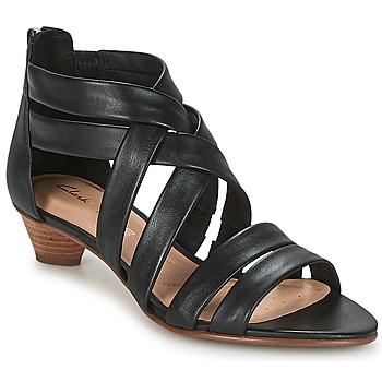 Čevlji  Ženske Sandali & Odprti čevlji Clarks MENA SILK Črna