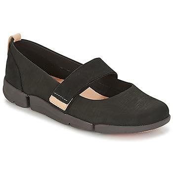 Čevlji  Ženske Balerinke Clarks TRI CARRIE Črna