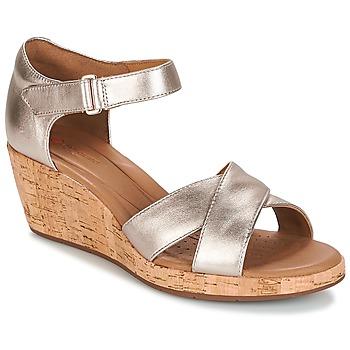 Čevlji  Ženske Sandali & Odprti čevlji Clarks UN PLAZA CROSS Pozlačena