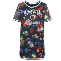 Oblačila Ženske Kratke obleke Love Moschino W5A0302 Črna / Večbarvna