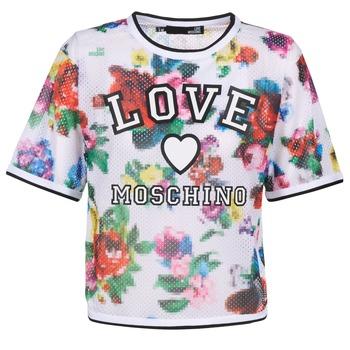 Oblačila Ženske Topi & Bluze Love Moschino W4G2801 Bela / Večbarvna