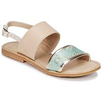 Čevlji  Deklice Sandali & Odprti čevlji Citrouille et Compagnie IOCHARLI Bež / Modra