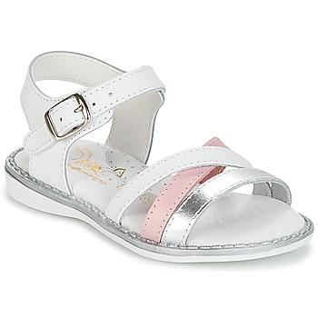 Čevlji  Deklice Sandali & Odprti čevlji Citrouille et Compagnie IZOEGL Bela / Srebrna / Rožnata