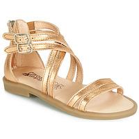 Čevlji  Deklice Sandali & Odprti čevlji Citrouille et Compagnie IMOURAT Pozlačena