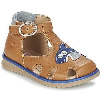 Čevlji  Dečki Sandali & Odprti čevlji Citrouille et Compagnie ISKILANDRO Kostanjeva / Modra