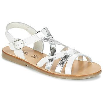 Čevlji  Deklice Sandali & Odprti čevlji Citrouille et Compagnie IMONGI Bela / Srebrna