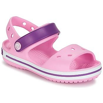 Čevlji  Deklice Sandali & Odprti čevlji Crocs Crocband Sandal Kids Tělová / Pink / Purple