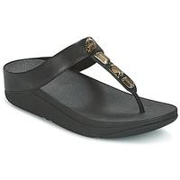 Čevlji  Ženske Japonke FitFlop ROKA TOE-THONG SANDALS Črna