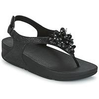 Čevlji  Ženske Sandali & Odprti čevlji FitFlop BOOGALOO BACK STRAP SANDAL Črna