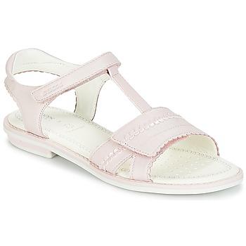 Čevlji  Deklice Sandali & Odprti čevlji Geox J S.GIGLIO A Rožnata