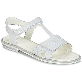 Čevlji  Deklice Sandali & Odprti čevlji Geox J S.GIGLIO A Bela