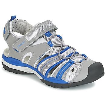 Čevlji  Dečki Športni sandali Geox J BOREALIS B. C Siva / Modra