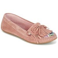 Čevlji  Ženske Mokasini Ippon Vintage MOC-WAX-ROSE Rožnata