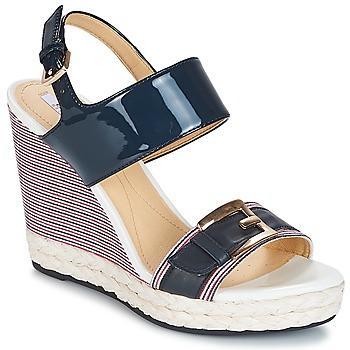 Čevlji  Ženske Sandali & Odprti čevlji Geox JANIRA E Modra