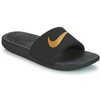 Čevlji  Otroci Natikači Nike KAWA GROUNDSCHOOL SLIDE Črna / Pozlačena
