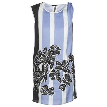 Oblačila Ženske Kratke obleke Sisley LAPOLLA Modra / Bela / Črna