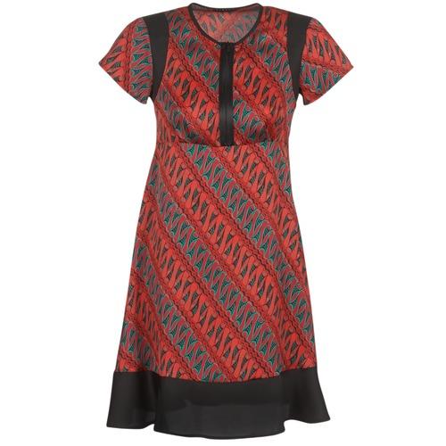 Oblačila Ženske Kratke obleke Sisley ZEBRIOLO Rdeča / Črna